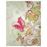 Floral Pattern Background Drawstring Bag (Large) Back