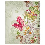 Floral Pattern Background Drawstring Bag (Small) Front