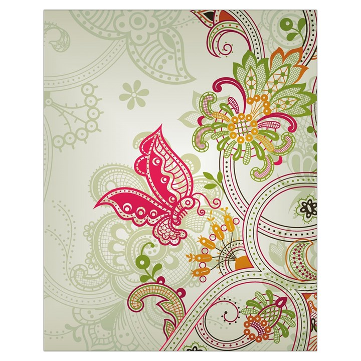 Floral Pattern Background Drawstring Bag (Small)