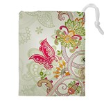 Floral Pattern Background Drawstring Pouches (XXL) Front