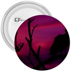 Vultures At Top Of Tree Silhouette Illustration 3  Buttons Front