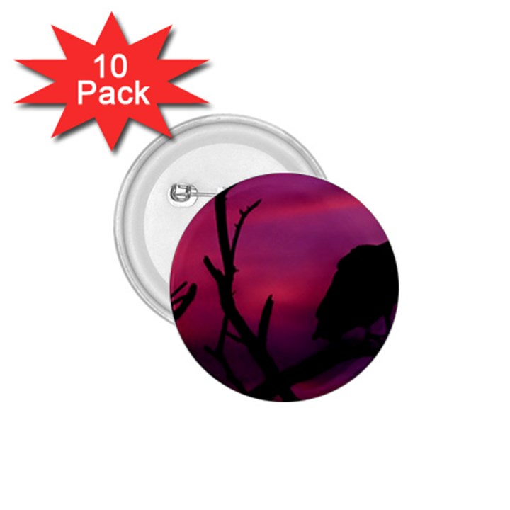 Vultures At Top Of Tree Silhouette Illustration 1.75  Buttons (10 pack)