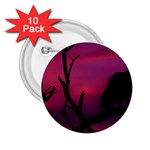 Vultures At Top Of Tree Silhouette Illustration 2.25  Buttons (10 pack)  Front
