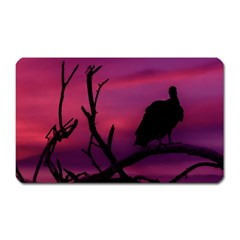 Vultures At Top Of Tree Silhouette Illustration Magnet (rectangular)