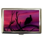 Vultures At Top Of Tree Silhouette Illustration Cigarette Money Cases Front