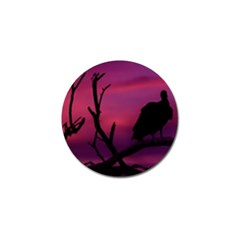 Vultures At Top Of Tree Silhouette Illustration Golf Ball Marker (4 pack)