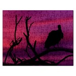 Vultures At Top Of Tree Silhouette Illustration Rectangular Jigsaw Puzzl Front