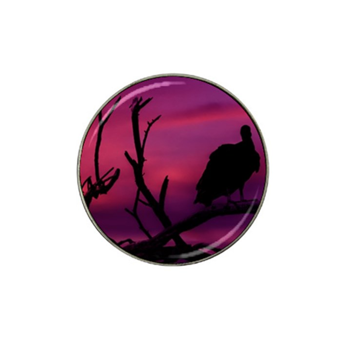 Vultures At Top Of Tree Silhouette Illustration Hat Clip Ball Marker (4 pack)