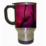 Vultures At Top Of Tree Silhouette Illustration Travel Mugs (White) Left