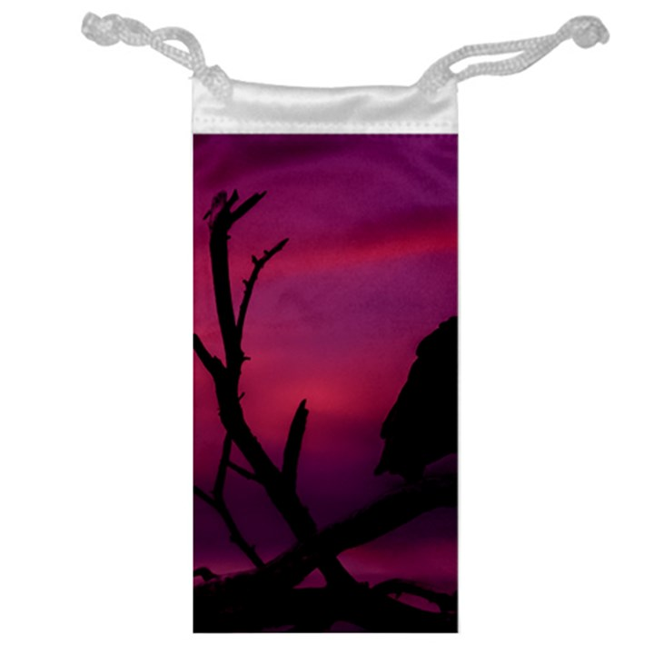 Vultures At Top Of Tree Silhouette Illustration Jewelry Bags