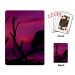Vultures At Top Of Tree Silhouette Illustration Playing Card Back