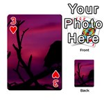 Vultures At Top Of Tree Silhouette Illustration Playing Cards 54 Designs  Front - Heart3