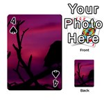 Vultures At Top Of Tree Silhouette Illustration Playing Cards 54 Designs  Front - Spade4
