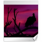 Vultures At Top Of Tree Silhouette Illustration Canvas 8  x 10  10.02 x8 Canvas - 1