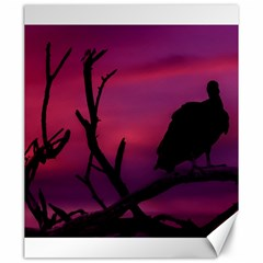 Vultures At Top Of Tree Silhouette Illustration Canvas 20  x 24