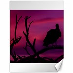 Vultures At Top Of Tree Silhouette Illustration Canvas 36  x 48   48 x36 Canvas - 1