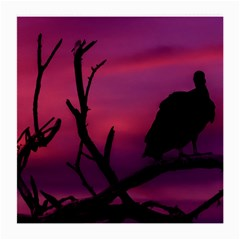 Vultures At Top Of Tree Silhouette Illustration Medium Glasses Cloth (2 Side)