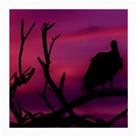 Vultures At Top Of Tree Silhouette Illustration Medium Glasses Cloth (2-Side) Back