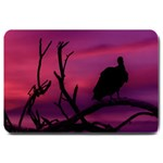 Vultures At Top Of Tree Silhouette Illustration Large Doormat  30 x20 Door Mat - 1