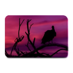 Vultures At Top Of Tree Silhouette Illustration Plate Mats