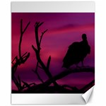Vultures At Top Of Tree Silhouette Illustration Canvas 11  x 14   14 x11 Canvas - 1