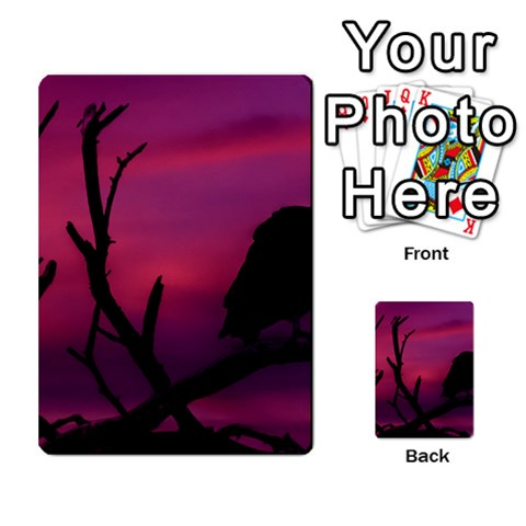 Vultures At Top Of Tree Silhouette Illustration Multi-purpose Cards (Rectangle)