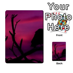 Vultures At Top Of Tree Silhouette Illustration Multi Purpose Cards (rectangle)