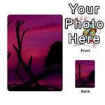 Vultures At Top Of Tree Silhouette Illustration Multi-purpose Cards (Rectangle)  Back 41