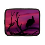 Vultures At Top Of Tree Silhouette Illustration Netbook Case (Small)  Front