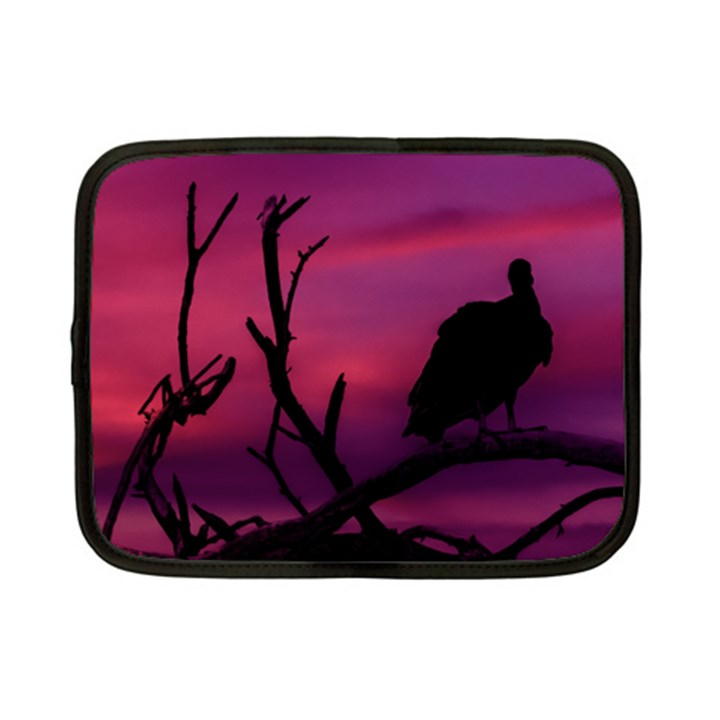 Vultures At Top Of Tree Silhouette Illustration Netbook Case (Small)
