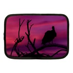 Vultures At Top Of Tree Silhouette Illustration Netbook Case (Medium)  Front