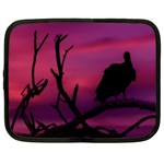 Vultures At Top Of Tree Silhouette Illustration Netbook Case (Large) Front