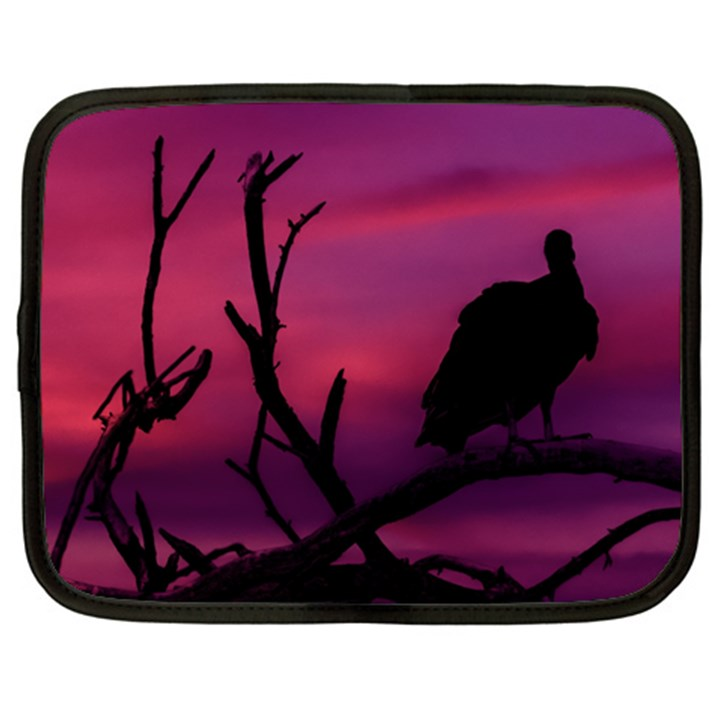 Vultures At Top Of Tree Silhouette Illustration Netbook Case (Large)
