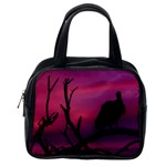 Vultures At Top Of Tree Silhouette Illustration Classic Handbags (One Side) Front