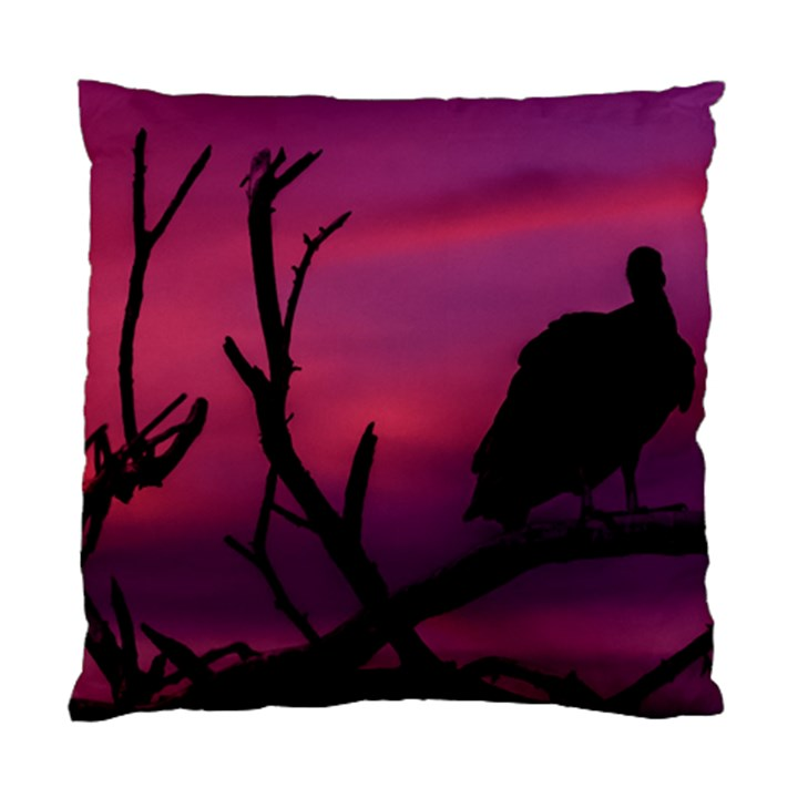 Vultures At Top Of Tree Silhouette Illustration Standard Cushion Case (One Side)