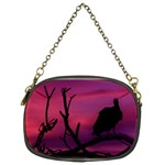 Vultures At Top Of Tree Silhouette Illustration Chain Purses (Two Sides)  Back