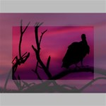 Vultures At Top Of Tree Silhouette Illustration Mini Canvas 6  x 4  6  x 4  x 0.875  Stretched Canvas