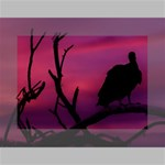 Vultures At Top Of Tree Silhouette Illustration Mini Canvas 7  x 5  7  x 5  x 0.875  Stretched Canvas