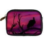 Vultures At Top Of Tree Silhouette Illustration Digital Camera Cases Front