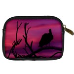 Vultures At Top Of Tree Silhouette Illustration Digital Camera Cases Back