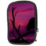 Vultures At Top Of Tree Silhouette Illustration Compact Camera Cases Front