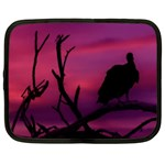Vultures At Top Of Tree Silhouette Illustration Netbook Case (XXL)  Front