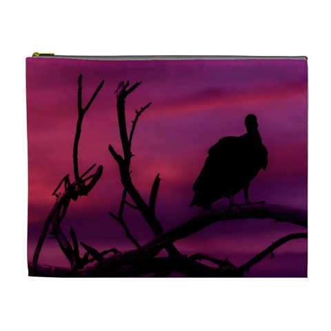 Vultures At Top Of Tree Silhouette Illustration Cosmetic Bag (XL)