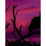 Vultures At Top Of Tree Silhouette Illustration Large Memo Pads 4.125 x5.5  Memopad