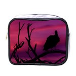Vultures At Top Of Tree Silhouette Illustration Mini Toiletries Bags Front