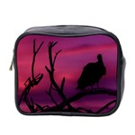 Vultures At Top Of Tree Silhouette Illustration Mini Toiletries Bag 2-Side Front
