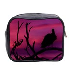 Vultures At Top Of Tree Silhouette Illustration Mini Toiletries Bag 2-Side Back