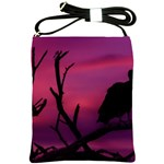 Vultures At Top Of Tree Silhouette Illustration Shoulder Sling Bags Front