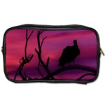 Vultures At Top Of Tree Silhouette Illustration Toiletries Bags Front