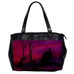 Vultures At Top Of Tree Silhouette Illustration Office Handbags Front
